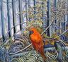 Bower Bird  1000mm x 1000mm -