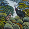 Southern Cassowary and Chick  400mm x 400mm -