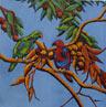 Electus Parrots  400mm x 400mm -